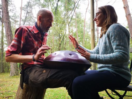 live harp en hang muziek stilteretraite in de natuur